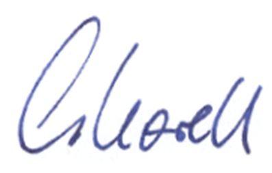 Carola Korell Unterschrift